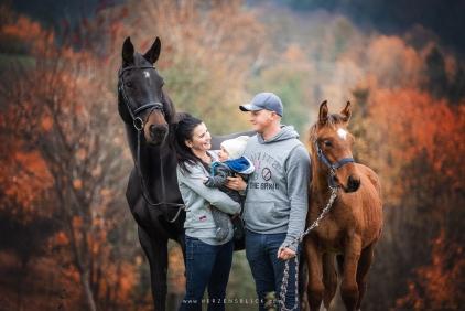 Pferd und Familie
